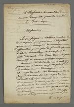 Lettre de Pierre Charnier adressée aux membres du comité d'enquête pour les inondés de Saint-Just.