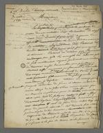Lettre de Pierre Charnier adressée à l'avocat De la Perrière, membre de bienfaisance et d'aide au victimes des inondations, dans laquelle il plaide en faveur de l'indemnisation d'une des victimes.