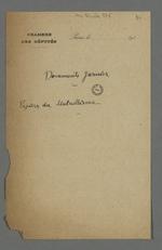 """Titre des documents """"Jarnier"""", papiers du mutuellisme."""