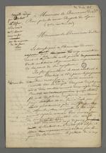 Requête pour la plainte déposée par Rochet, chef d'atelier contre les frères Gauthier, marchands fabricants, rédigée par Pierre Charnier pour Rochet, chef d'atelier, adressée au procureur du roi.