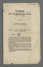 Rapport du président de la société de garantie mutuelle des marchands-fabricants, contre le piquage d'once, extrait du