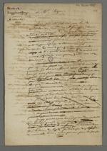 Lettre de Pierre Charnier adressée à Bezon, dans laquelle il lui relate la méprise qui fit interdire une lecture publique et partage ses réflexions concernant l'idéologie communiste.