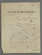 Version proposée par Pierre Charnier pour l'adresse destinée au Vicomte Dubouchage par les ouvriers et fabricants lyonnais, en guise de félicitations pour son étude sur l'organisation du travail qui prend en compte la condition de l'ouvrier.