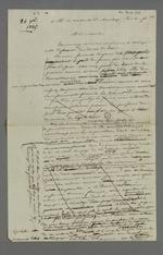 Autre version de Pierre Charnier de l'adresse destinée au Vicomte Dubouchage par les ouvriers et fabricants lyonnais, en guise de félicitations pour son étude sur l'organisation du travail qui prend en compte la condition de l'ouvrier.