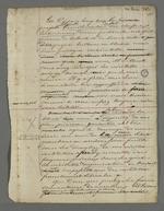 """Notes de Pierre Charnier destinées à la rédaction de """"l'adresse des négociants au Vicomte Dubouchage""""."""