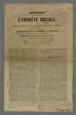 Enquête sociale ou examen raisonné de la civilisation ancienne et moderne par le Vicomte Dubouchage, version annotée par Pierre Charnier.