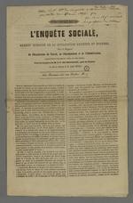 Enquête sociale ou examen raisonné de la civilisation ancienne et moderne par le Vicomte Dubouchage, deuxième version annotée par Pierre Charnier.