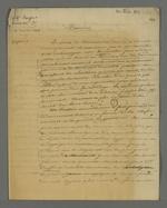 Lettre de Pierre Charnier adressée à l'abbé Jayol, aumônier, dans laquelle il exprime la volonté de monter un projet de campagne d'information et de sensibilisation de santé communautaire à destination de la classe ouvrière.