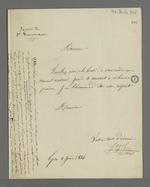 Lettre de l'abbé Jayol, aumônier et secrétaire de la société de Saint François Xavier, adressée à Pierre Charnier, dans laquelle il le convoque au Bureau Central.