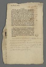 Dernier feuillet de la brochure présentée aux officiers municipaux, par le docteur chirurgien J.J.Coindre, extrait de l'ouvrage intitulé