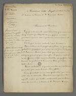 Lettre de voeux pour la nouvelle année adressée à l'abbé Jayol, directeur de la société de Saint François Xavier, rédigée par Pierre Charnier en sa qualité de secrétaire de la première section de la société.