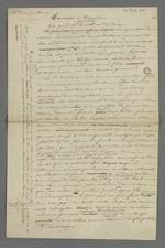 Lettre non expédiée de Pierre Charnier, adressée au directeur de la société de Saint François Xavier dans laquelle il lui rapporte la discussion théologique qu'il eut avec le révérend père.