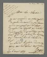 Lettre de Girard, ex-mutuelliste, adressée à Pierre Charnier, dans laquelle il lui demande de conseiller l'un de ses parents sur une question de contrat d'apprentissage.