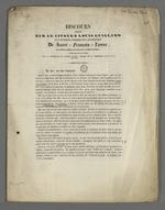 Discours de défense de la société de Saint François Xavier, adressé aux ouvriers membres par Louis Guillard, sous la présidence de Castel, membre de la commission municipale.