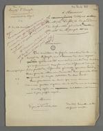Lettre annonçant le maintien du règlement modifié de la société de bienfaisance et de secours mutuels de Saint-Joseph.