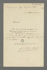 Invitation de Jean de Lacroix-Laval, ancien maire de Lyon, destinée à Pierre Charnier pour qu'il se rende à une réunion de la Commission de secours.