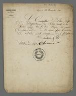 Ordre communiqué à Pierre Charnier par Bouvier-Dumolart, conseiller d'Etat, préfet du Rhône, dans lequel il est demandé de se réunir, avec les autres bons citoyens du quartier Saint-Paul, pour le maintien de l'ordre et le rétablissement de la paix publique.