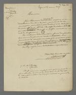 Demande de Pierre Charnier auprès de Bachelu et Berloty pour aider à la distribution des bons alimentaire issus des souscriptions offertes par la comtesse de Chambord.