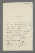 Lettre du Baron de Reinarnay adressée à Pierre Charnier, membre de la Commission de secours, dans laquelle il le convie à une réunion dont l'objet est de fixer une seconde distribution de bons alimentaires.