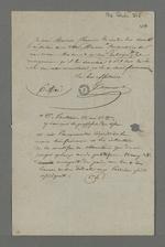 Lettre dans laquelle Tocanier demande à Pierre Charnier d'aider Crontzick, le désignant comme un ami politique.