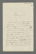 Lettre du Baron de Reinarnay adressée à Pierre Charnier, membre de la Commission de secours, dans laquelle il l'informe des problèmes logistiques concernant la distribution de secours alimentaire.
