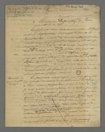 Lettre de Pierre Charnier adressée à Charles Dépouilly, membre du Conseil des Prud'hommes tisseurs de Paris, ancien marchand-fabricant de Lyon.