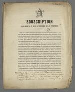 Souscriptionpour aider le pape Pie IX dans les réformes qu'il a entrprises.