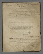 """Faire-part de décès de Benoît-Hilaire Vucher, suivi de notes de Pierre Charnier qu'il intitule : """"souvenir de la fondation du premier mutuellisme, de 1825 à 1827"""""""