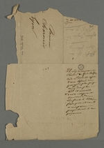 Fragment de chemise sur laquelle Pierre Charnier a noté la période de fondation du premier mutuellisme : 1825-1828.