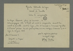 Copie effectuée par Fernand Rude d'une convocation adressée à Pierre Charnier, pour qu'il se rende au conseil de famille de la Garde nationale siègeant le
