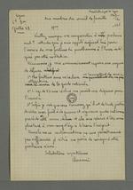 Copie effectuée par Fernand Rude de l'exposé que rédigea Pierre Charnier lors de sa convocation au conseil de famille de la Garde nationale siègeant le