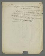 """Lettre rédigée par Pierre Charnier, adressée à un rédacteur dans laquelle éloge est faite du général Cavaignac en ce qu'il a fait suspendre les journaux """"hostiles à la République""""."""