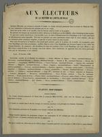 Annonce de la création d'un comité électoral permanent.
