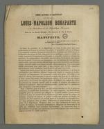 Manifeste du Comité National et Indépendant pour l'élection de Louis-Napoléon Bonaparte à la fonction de président de la République.