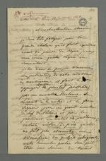 Lettre de Demarre adressée à Pierre Charnier dans laquelle il l'entretient au sujet de l'adresse projetée d'être envoyée au Cardinal de Bonald concernant une demande de commande d'oriflammes.