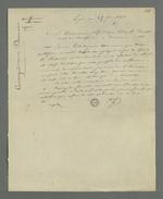 Lettre de Pierre Charnier adressée à Demarre dans laquelle il lui annonce le succès de leur entreprise commune, à savoir de faire passer commande d'oriflammes aux curés des diocèses auprès des employés de la Fabrique lyonnaise.