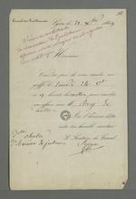 Convocation de Pierre Charnier à la séance du Conseil des Prud'hommes du