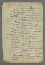 Lettre de Pierre Charnier adressée à son voisin, dans laquelle il lui raconte le déroulement de l'affaire qui oppose la tisseuse Virginie Chabre, ancienne apprentie à l'atelier communauté Providence Jésus-Marie de Fourvière, à ses anciennes employeuses.