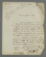 Demande adressée à Pierre Charnier pour faire partie de la commission provisoire de répartition des tâches relatives à la commande d'oriflammes des curés des diocèses auprès des employés de la Fabrique lyonnaise.