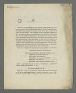 Proposition de commande, suivie du catalogue de présentation des produits et des tarifs pour la commande d'oriflammes des curés des diocèses auprès des employés de la Fabrique lyonnaise, ainsi que des explications relatives aux enjeux de cette commande; forme définitive imprimée envoyée à Pierre Charnier par Charles Martel.