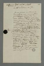 Lettre de réponse de Pierre Charnier adressée à Sudon, dans laquelle il explique qu'il est dans l'incapacité de convoquer une commission qu'il considère comme n'étant plus sous ses ordres.