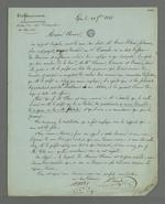Lettre de Charles Martel et Decombe adressée à Pierre Charnier dans laquelle ils lui font part de l'entretien qu'a eu Decombe avec un marchand-fabricant, entretien qui les amènent à demander à Pierre Charnier des explications.