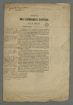 Adresse des catholiques lyonnais au pape Pie IX, comportant des annotations manuscrites relatives au style et à la syntaxe .