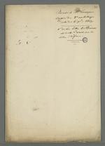 Pochette contenant les notes pour mémoire dans l'affaire de la communauté de Fourvière.
