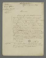 Lettre de Pierre Charnier adressée à Mourien, rédacteur gérant du journal