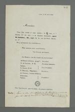 Convocation à la réunion électorale des membres du comité du droit national, adressée à Pierre Charnier.