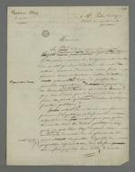 Lettre de Pierre Charnier adressée à Pelin, président du comité électoral de la Guillotière concernant les élections législatives.
