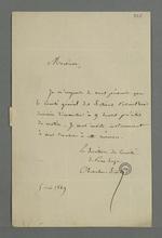 Lettre de Chevalier Tivet, secrétaire du comité électoral, de Pierre-Scize, adressée à Pierre Charnier dans laquelle il l'invite à se rendre à la réunion du comité général des sections.