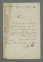 Convocation au greffe du Conseil des Prud'hommes, adressée à Pierre Charnier par Seppe, président du Conseil.