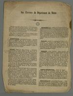 Communiqué du comité général des sections réunies aux électeurs du Rhône : présentation des candidats aux élections législatives.